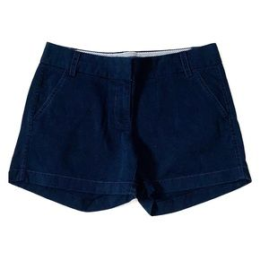 NWOT J. Crew Navy Blue Classic Chino Shorts